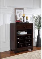 Pulaski Furniture 12-Bottle Dark Brown Wood Bar Cabinet