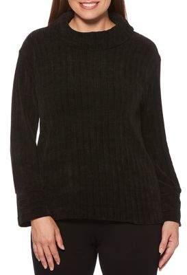 Rafaella Ribbed Long Sleeve Turtleneck Pullover