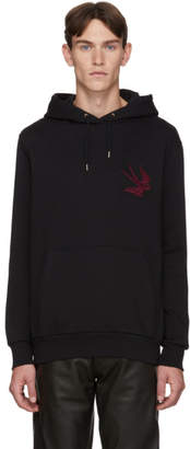 Paul Smith by Mark Mahoney Black Panther and Swallow Embroidery Hoodie