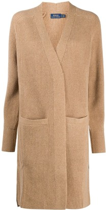 Polo Ralph Lauren Ribbed Open-Front Cardi-Coat