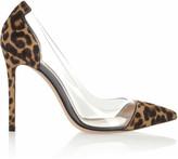 Gianvito Rossi Leopard-Print Calf Hair and PVC Pumps