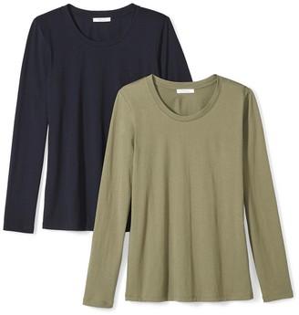 Daily Ritual Women's Lightweight 100% Supima Cotton Long-Sleeve Crew Neck T-Shirt