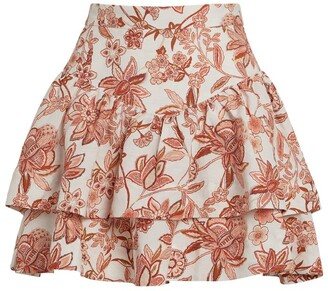 Shona Joy Carolina Frill Mini Skirt