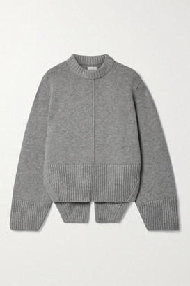 KHAITE Virginia Cashmere Sweater - Gray