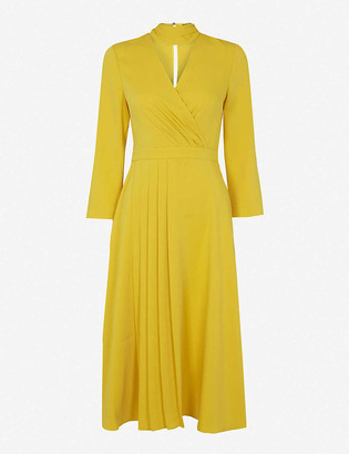 Ted Baker Pleated wrap crepe midi dress