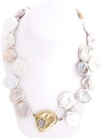 Peter Suchy 18K Yellow Gold with 0.90ct Diamond, Moonstone Beads and Freshwater Pearl Necklace
