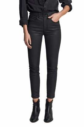 Salsa Secret Glamour Push in Capri Jeans with Coating Black