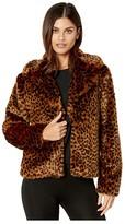 Sanctuary Wild Faux Fur Jacket (Leopard) Women's Clothing