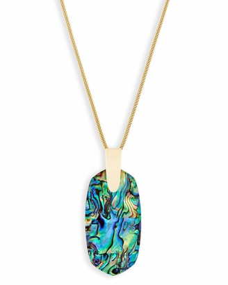 Kendra Scott Inez Long Pendant Necklace for Women Fashion Jewelry 14K Gold-Plated