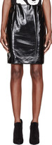 Jonathan Saunders Black Vinyl Elina Pencil Skirt