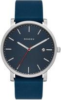 Skagen Men's Hagen Blue Silicone Strap Watch 40mm SKW6343