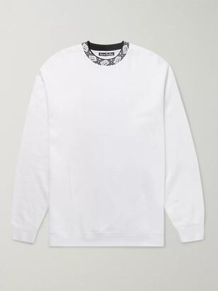 Acne Studios Logo-Jacquard Fleece-Back Jersey Sweatshirt
