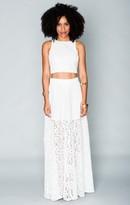 MUMU Princess Di Ballgown Skirt ~ Sparkle Lace White