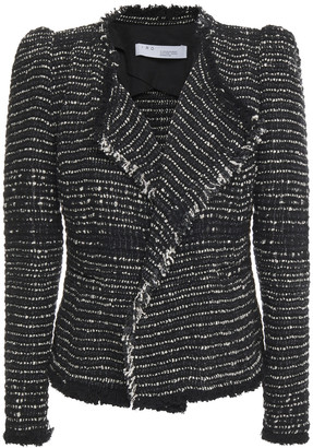 IRO Diana Fringe-trimmed Cotton-blend Tweed Jacket