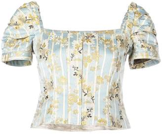 Brock Collection striped floral top
