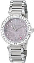 Juicy Couture Cali Women's Quartz Watch with Baby Pink Dial Analogue Display and Silver Stainless Steel Bracelet 1901327