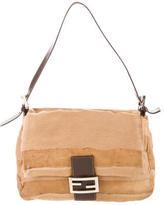 Fendi Leather & Ponyhair Mamma Bag