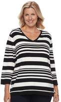 Croft & Barrow Plus size V-Neck Pullover