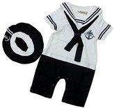 StylesILove.com StylesILove Baby Boy Sailor Costume Romper and Hat 2-piece (6-12 Months, )