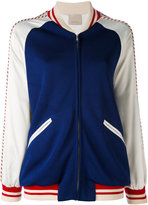Laneus striped piping bomber jacket - women - Polyester/Spandex/Elastane/Acetate/Viscose - 40