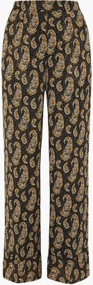 Altuzarra Bani Printed Silk Crepe De Chine Wide-leg Pants