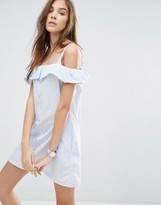 Pull&Bear Off The Shoulder Strappy Dress