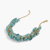 J.Crew Lucite gem necklace