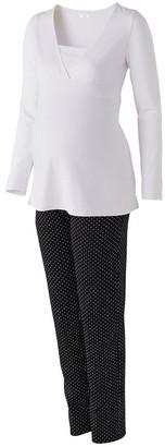 La Redoute Collections Maternity/Nursing Pyjamas in Organic Cotton