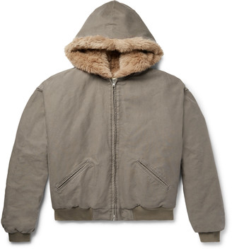 Fear Of God Faux Fur-Lined Cotton-Corduroy Hooded Jacket