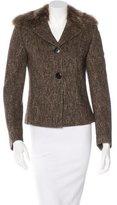 Dolce & Gabbana Fur-Trimmed Tweed Blazer