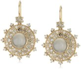 "Nam Cho Bull's Eye"" Earrings with Champagne and White Diamonds in 18k"
