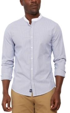 Dockers Regular-Fit Supreme Flex Performance Stretch Stripe Band-Collar Shirt