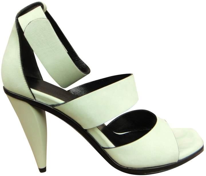 Balenciaga Green Suede Sandals