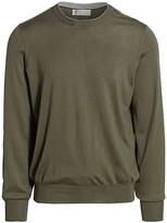 Brunello Cucinelli Virgin Wool & Cashmere Crewneck Sweater