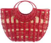 Nancy Gonzalez Crocodile Basket Handle Bag