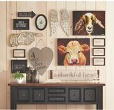 "Home Decorators Collection 20.25 in. H x 24 in. W ""One Cow"" Wide Canvas Wall Art"