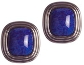 Christian Dior Square Faux Lapis Lazuli Murano Glass Earrings