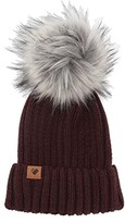 Obermeyer Denver Faux Fur Pom Hat (Wine-Not) Beanies