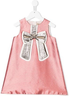 Hucklebones London Metallic Sheen Bow Dress