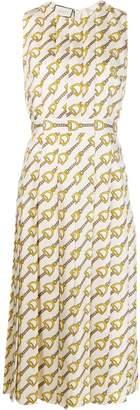 Gucci Stirrups-print silk dress