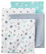 Carter's Flannel Receiving Blankets, Paws by