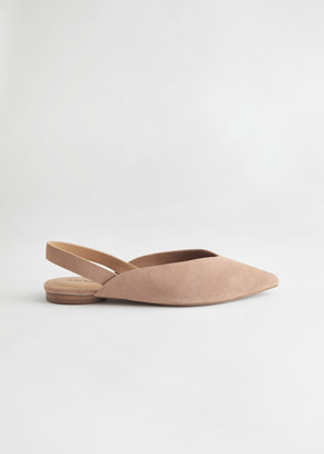 And other stories Pointed Suede Ballerina Flats