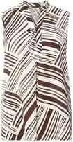 Dorothy Perkins Brown Stripe Sleeveless Shirt
