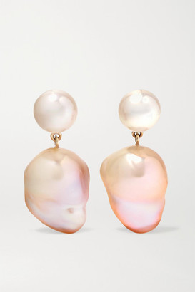 Sophie Bille Brahe Venus Rose 14-karat Gold Pearl Earrings