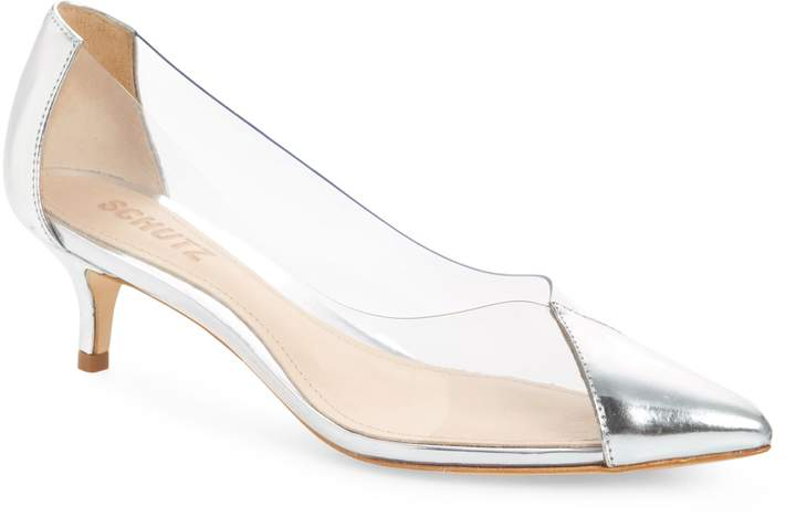 Schutz Cyou Clear Pointy Toe Pump