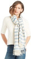 Sole Society Woven Stripe Scarf With Fringe