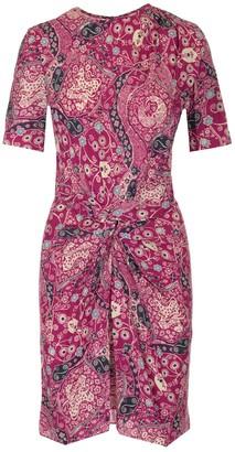 Etoile Isabel Marant Gathered Paisley Print Dress