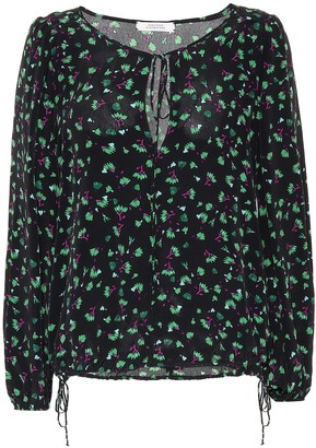 Schumacher Dorothee Simplistic Flowers silk-blend blouse
