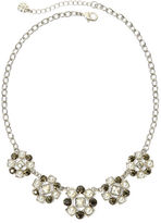 JCPenney MONET JEWELRY Monet Multicolor Crystal Silver-Tone Frontal Collar Necklace