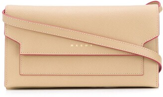 Marni Bellows leather shoulder strap wallet